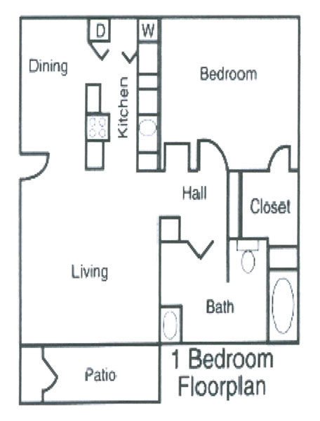 ... Georgia 1 Bedroom Floorplan, Alexandria Landing Luxury Apartments  Cartersville, ...