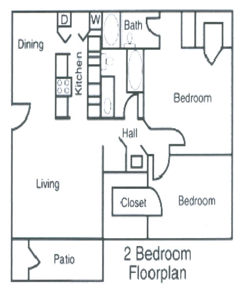 ... Georgia 2 Bedroom Floorplan, Alexandria Landing Luxury Apartments  Cartersville, ...